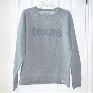 Unwind by League Gray Texas Sweatshirt Sz L
